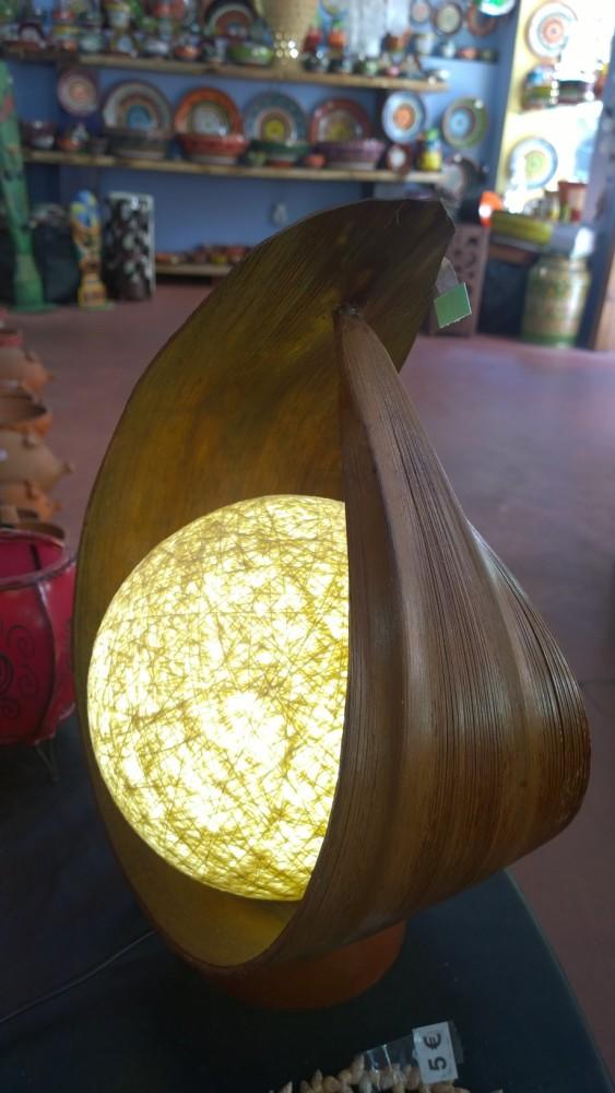 BALI lámparas. Hoja de palmera de coco y bola con hilos y resina. Capítulo I (2/6)