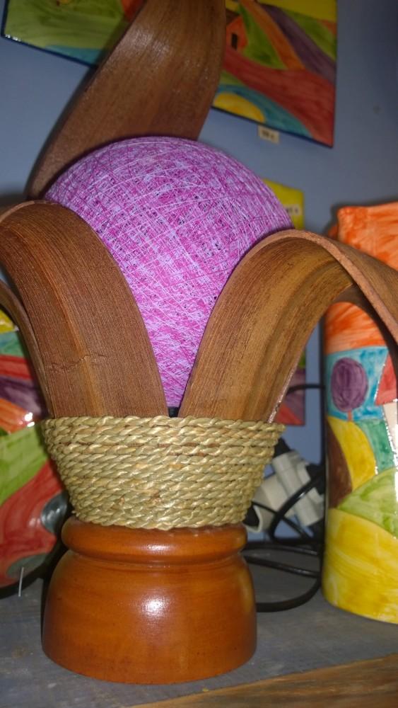 BALI lámparas. Hoja de palmera de coco y bola con hilos y resina. Capítulo I (4/6)